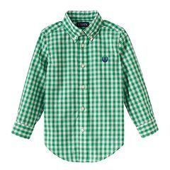 Toddler Boy Chaps Woven Plaid Button-Down Shirt
