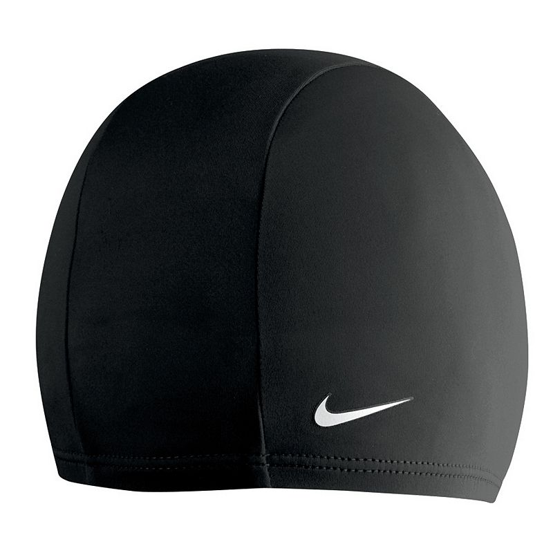Nike Swim Cap, Black Set a personal best time with this Nike swim cap. Stretches for snug fit FIT & Sizing One size fits most Fabric & Care Polyester, spandex Size: Onesize. Color: Black. Gender: Male. Age Group: Adult. Pattern: Solid. Material: Polyester/Spandex.