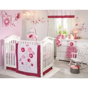 NoJo Butterfly Bouquet 4 pc Crib Bedding Set