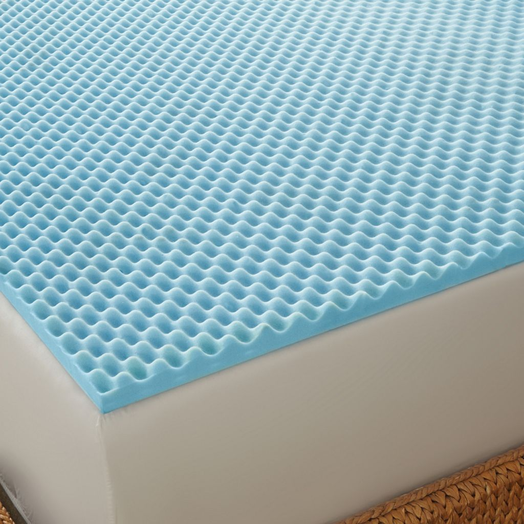 Arctic Sleep by Pure Rest Cool-Blue 1 1/2-inch Memory Foam Mattress Topper