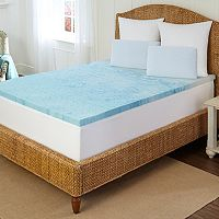 Arctic Sleep by Pure Rest 2-inch Marbleized Gel Memory Foam Mattress Topper