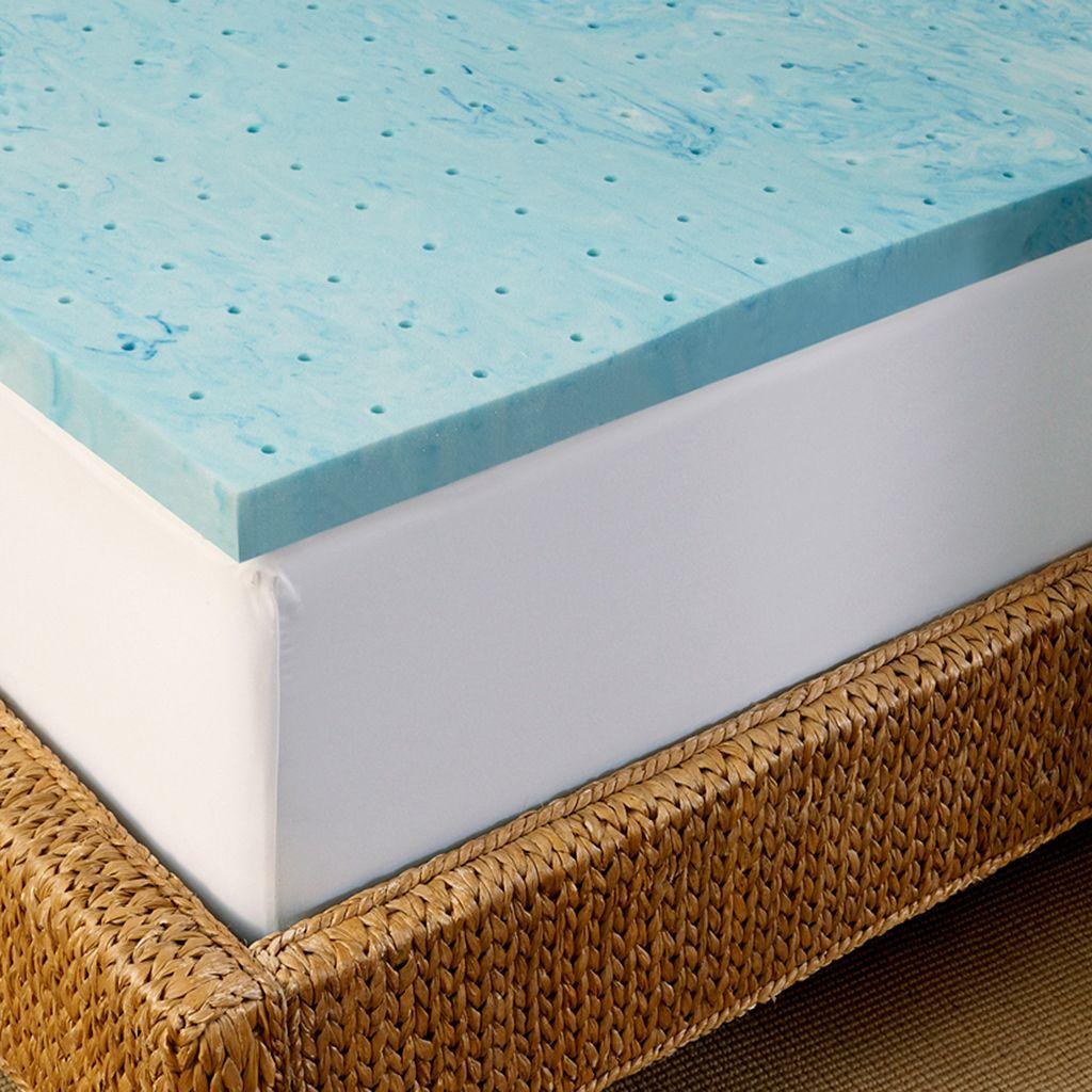 Arctic Sleep by Pure Rest 2-inch Marbleized Gel Memory Foam Mattress Topper