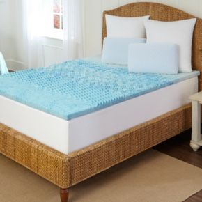 Arctic Sleep by Pure Rest 1 1/2-inch Marbleized Gel Memory Foam 5-Zone Mattress Topper
