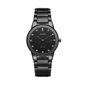 Citizen Eco-Drive Men's Axiom Diamond Stainless Steel Watch - AU1065-58G