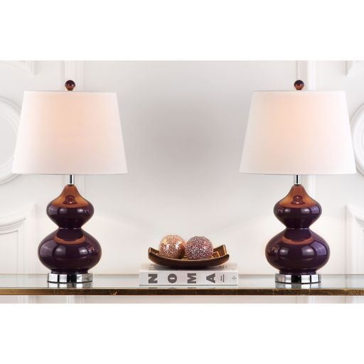 Safavieh 2-piece Eva Double Gourd Table Lamp Set