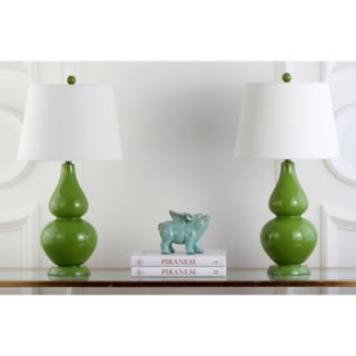 Safavieh 2-piece Cybil Double Gourd Table Lamp Set