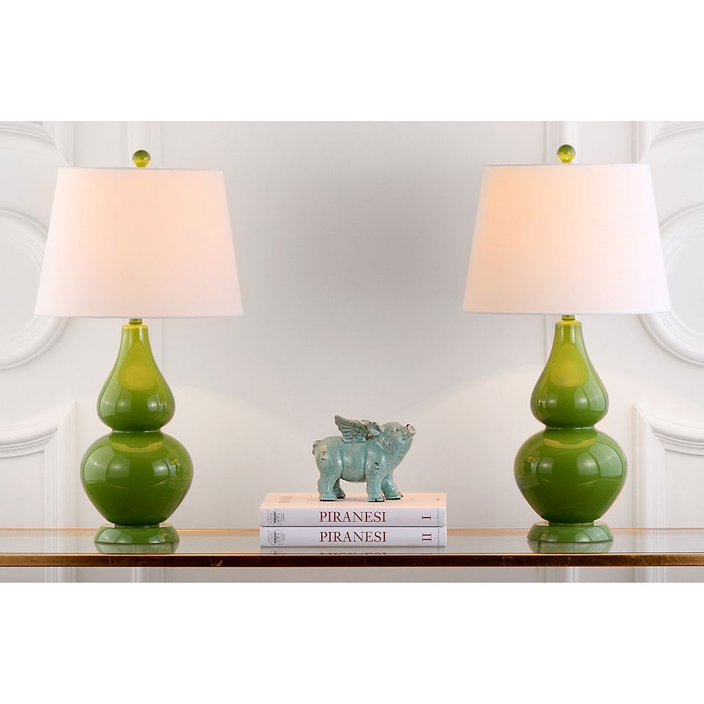 Safavieh 2-piece Cybil Double Gourd Table Lamp Set