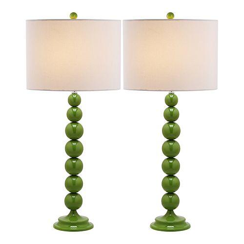 Safavieh 2-piece Mae Long Neck Table Lamp Set