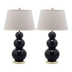 Safavieh 2 pc Pamela Triple Gourd Table Lamp Set