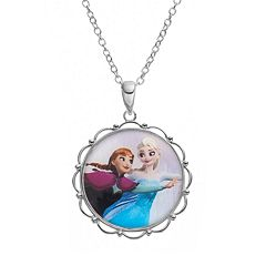 Disney's Frozen Anna & Elsa Silver-Plated 'Sisters Forever' Pendant Necklace