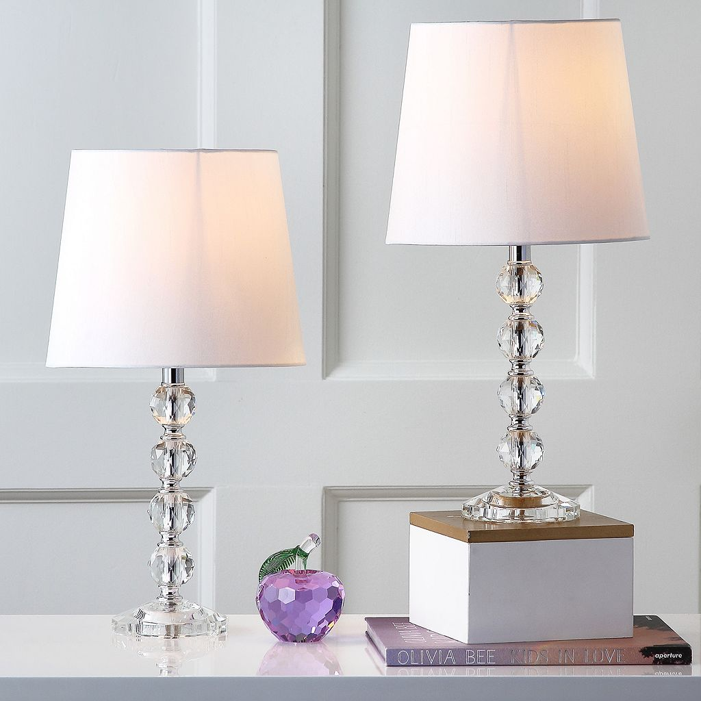 Safavieh 2-piece Nola Stacked Crystal Ball Table Lamp Set