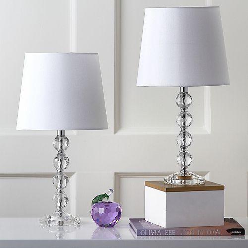 Safavieh 2-piece Nola Stacked Crystal Ball Table Lamp Set