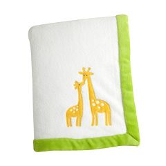 Carter's Animal Collection Applique Coral Fleece Blanket