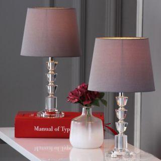 Safavieh 2-piece Harlow Tiered Crystal Orb Table Lamp Set