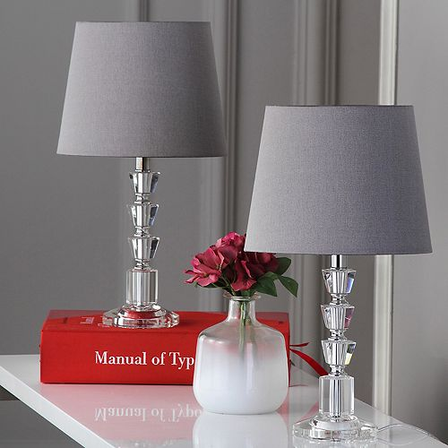 Safavieh 2-piece Harlow Tiered Crystal Orb Table Lamp Set