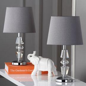 Safavieh 2-piece Crescendo Tiered Crystal Table Lamp Set