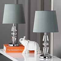 Safavieh 2-piece Crescendo Tiered Crystal Table Lamp Set
