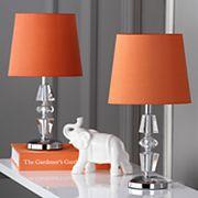 Safavieh 2 pc Crescendo Tiered Crystal Table Lamp Set