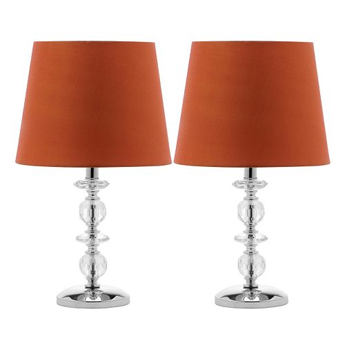 Safavieh 2-piece Derry Stacked Crystal Orb Table Lamp Set