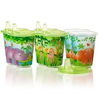 Evenflo Feeding 6 pkZoo Friends 10-oz. Convenience Sippy Cups
