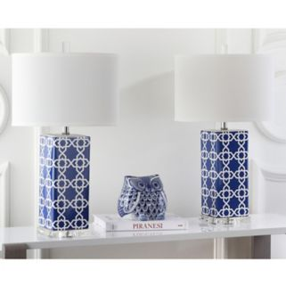 Safavieh 2-piece Quatrefoil Table Lamp Set