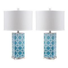 Safavieh 2-piece Quatrefoil Table Lamp Set