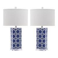 Safavieh 2 pc Quatrefoil Table Lamp Set
