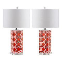 Safavieh 2 pc Quatrefoil Table Lamp Set