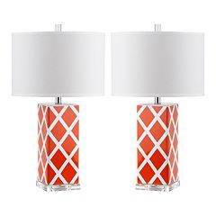 Safavieh 2 pc Garden Lattice Table Lamp Set