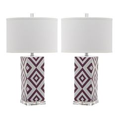 Safavieh 2 pc Diamonds Table Lamp Set