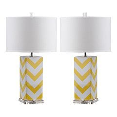 Safavieh 2-piece Chevron Stripe Table Lamp Set
