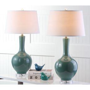 Safavieh 2-piece Blanche Gourd Table Lamp Set