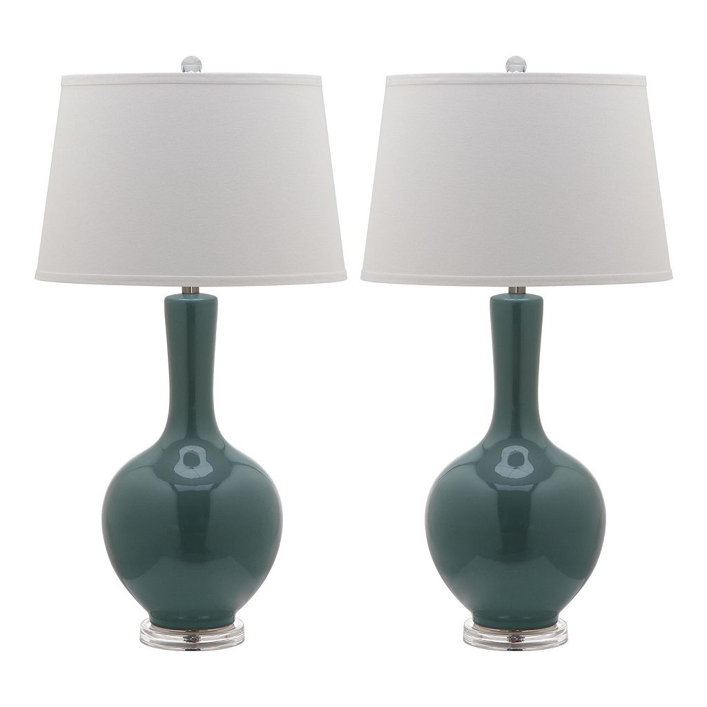 Safavieh 2-piece Blanche Gourd Table Lamp Set