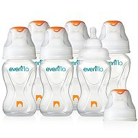 Evenflo Feeding 6-pk. Advanced + WIDE Mouth 8-oz. Baby Bottles