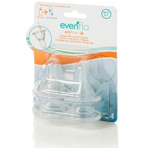 Evenflo Feeding 4-pk. Proflow + Vented Medium Flow Nipples