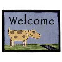 Park B. Smith PB Paws Welcome Dog Tapestry Pet Rug - 19'' x 27''