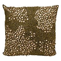 Mina Victory Luminescence Square Beaded Throw Pillow