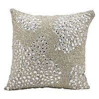 Mina Victory Luminescence Square Beaded Throw Pillow