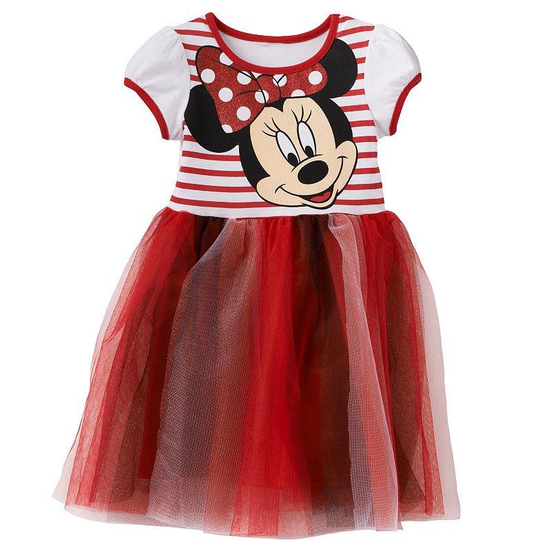 Disney's Minnie Mouse Glitter Tulle Dress - Toddler Girl
