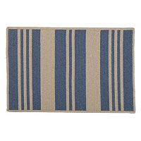 Sunbrella Varsity Stripe Braided Reversible Indoor Outdoor Rug
