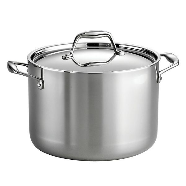 Tramontina Gourmet Tri Ply Clad Stainless Steel 8 Qt Stockpot