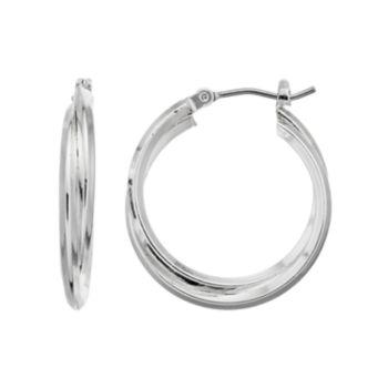 Dana Buchman Double Hoop Earrings