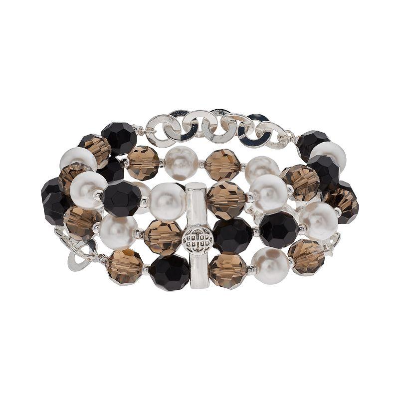 Dana Buchman Bead Multirow Stretch Bracelet