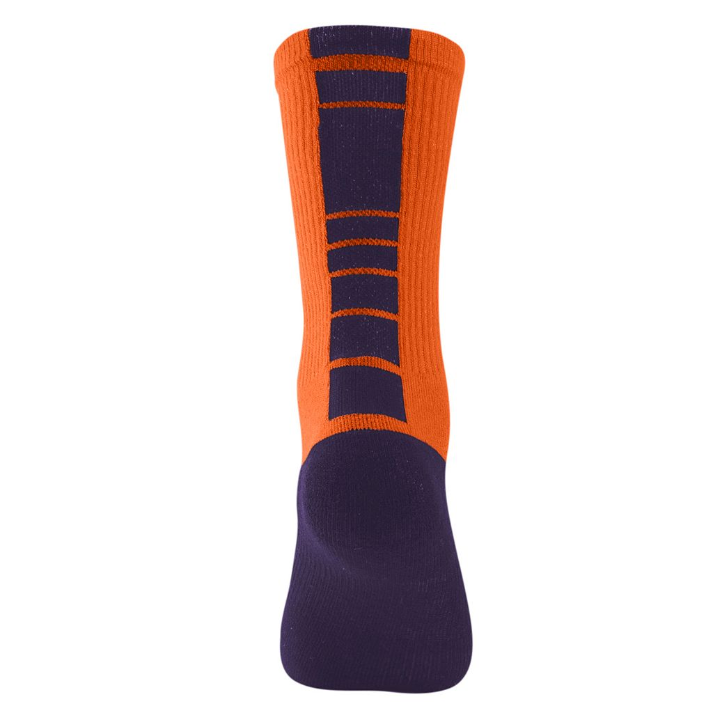 Women's Mojo Clemson Tigers Champ 1/2-Cushion Performance Crew Socks
