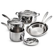 Tramontina Gourmet Tri-Ply 8 pc Stainless Steel Cookware Set