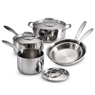 Tramontina Gourmet Tri-Ply 8-pc. Stainless Steel Cookware Set