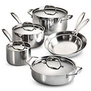 Tramontina Gourmet Tri-Ply 10 pc Stainless Steel Cookware Set