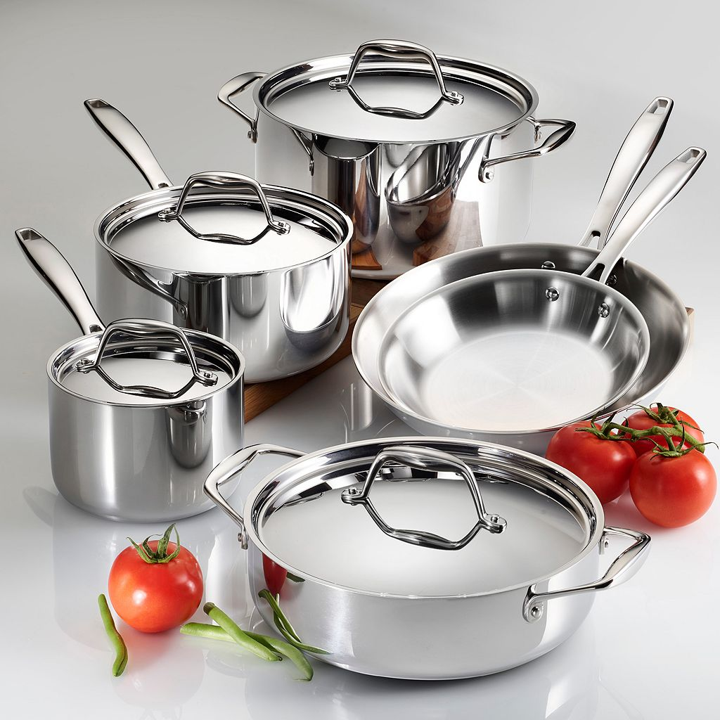 Tramontina Gourmet Tri-Ply 10-pc. Stainless Steel Cookware Set