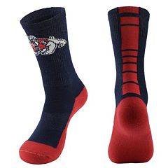 Women's Mojo Fresno State Bulldogs Champ 1/2-Cushion Performance Crew Socks