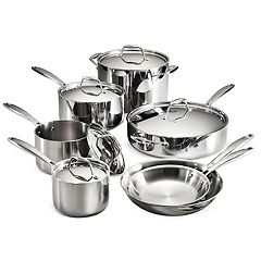 Tramontina Gourmet Tri-Ply 12-pc. Stainless Steel Cookware Set
